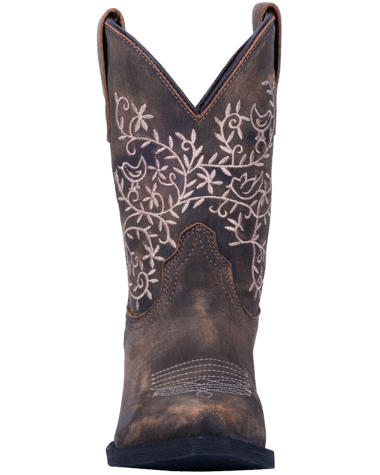 Dan Post Youth Girls' Marissa Western Boots - Snip Toe, Brown, hi-res