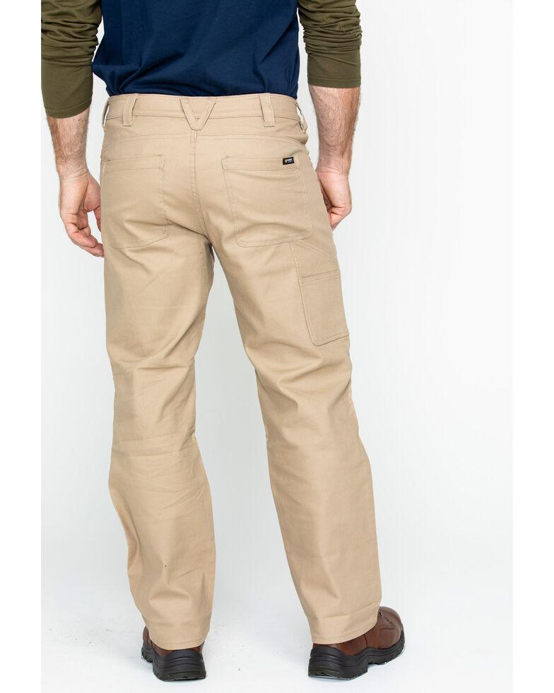 Hawx Men's Stretch Canvas Utility Work Pants , Beige/khaki, hi-res
