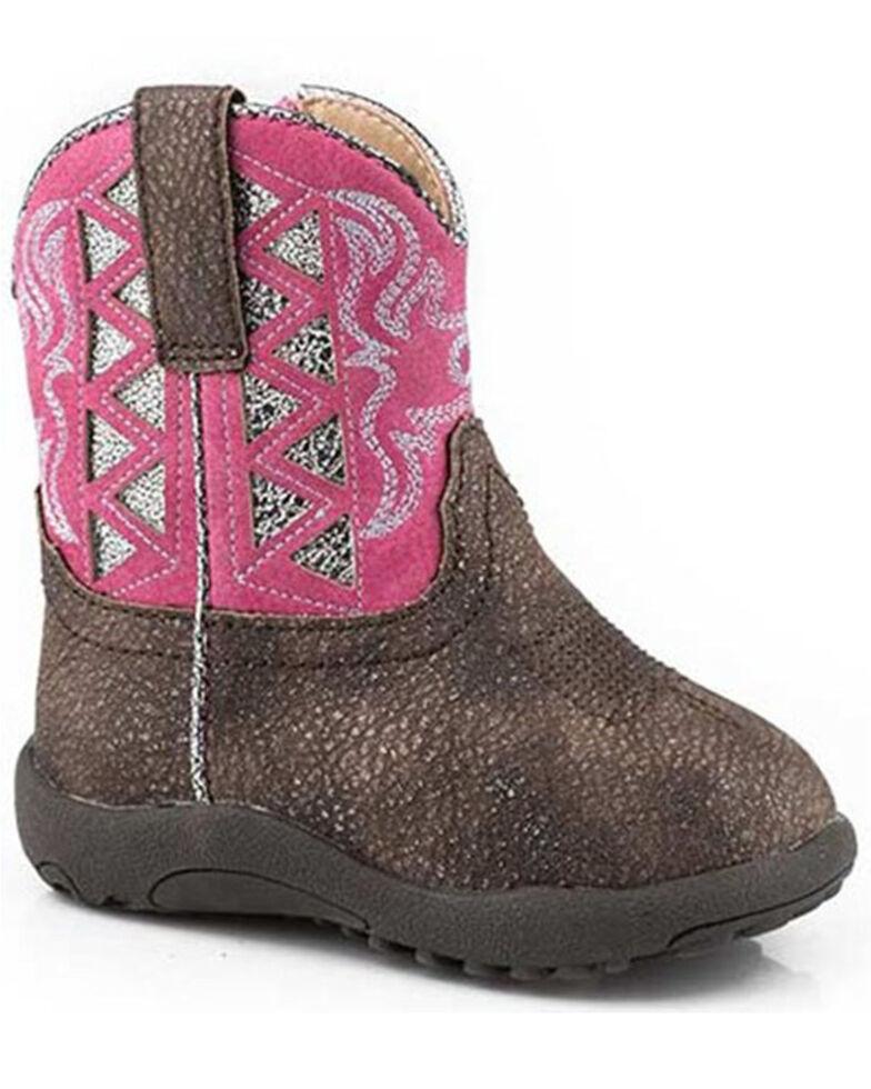 Roper Infant Girls' Askook Poppet Boots - Square Toe, Brown, hi-res