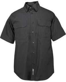 5.11 Tactical Cotton Short Sleeve Shirt, Black, hi-res