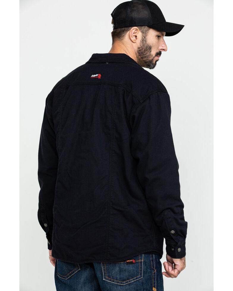 Ariat Men's FR Rig Shirt Work Jacket - Big , Black, hi-res