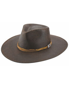 Bullhide Women's Black Riverview Town Shantung Panama Straw Fashion Hat , Black, hi-res