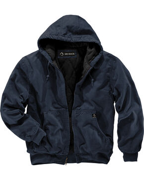 Dri Duck Men's Cheyenne Hooded Work Jacket - Tall Sizes (XLT - 2XLT), Navy, hi-res