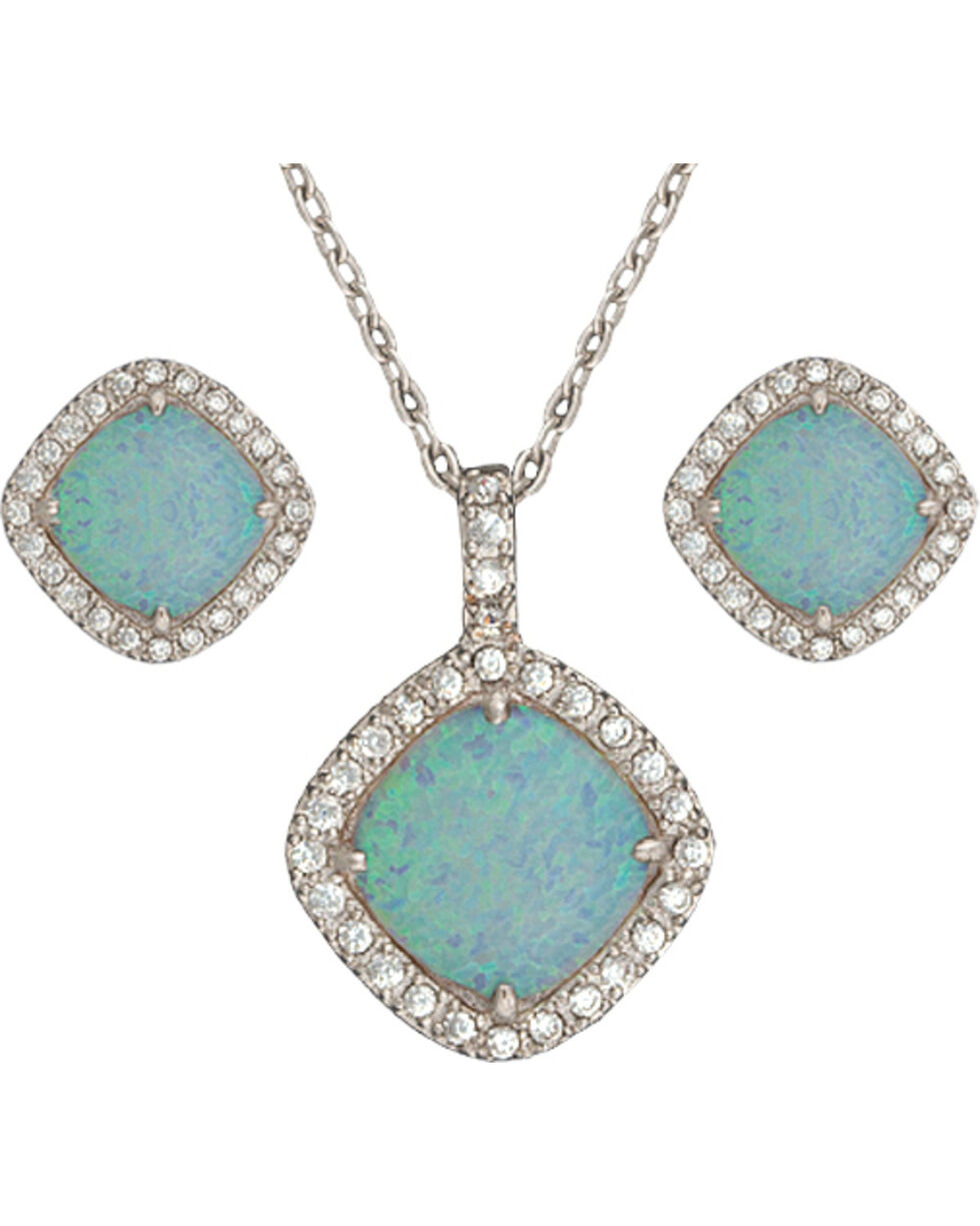 Montana Silversmiths River Lights in the Pool Winter Jewelry Set, Silver, hi-res