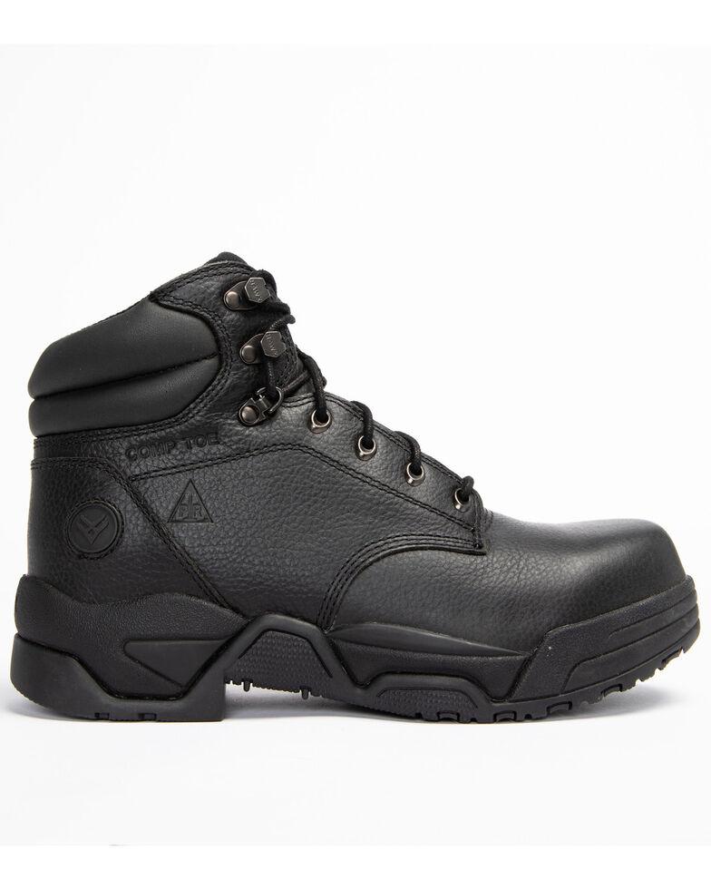 Hawx Men's Enforcer Black Lace-Up Work Boots - Composite Toe, Black, hi-res