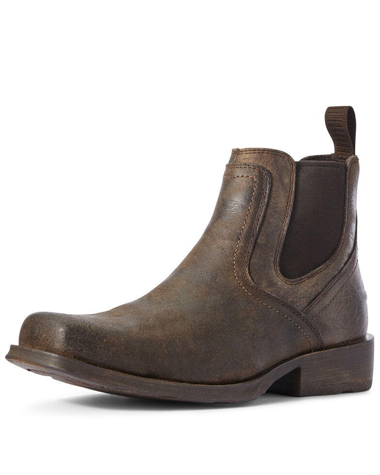 Ariat Men's Midtown Rambler Stone Chelsea Boots - Square Toe, Black, hi-res