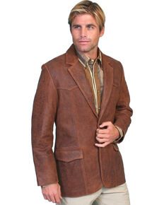 Scully Lamb Leather Blazer - Tall, Brown, hi-res
