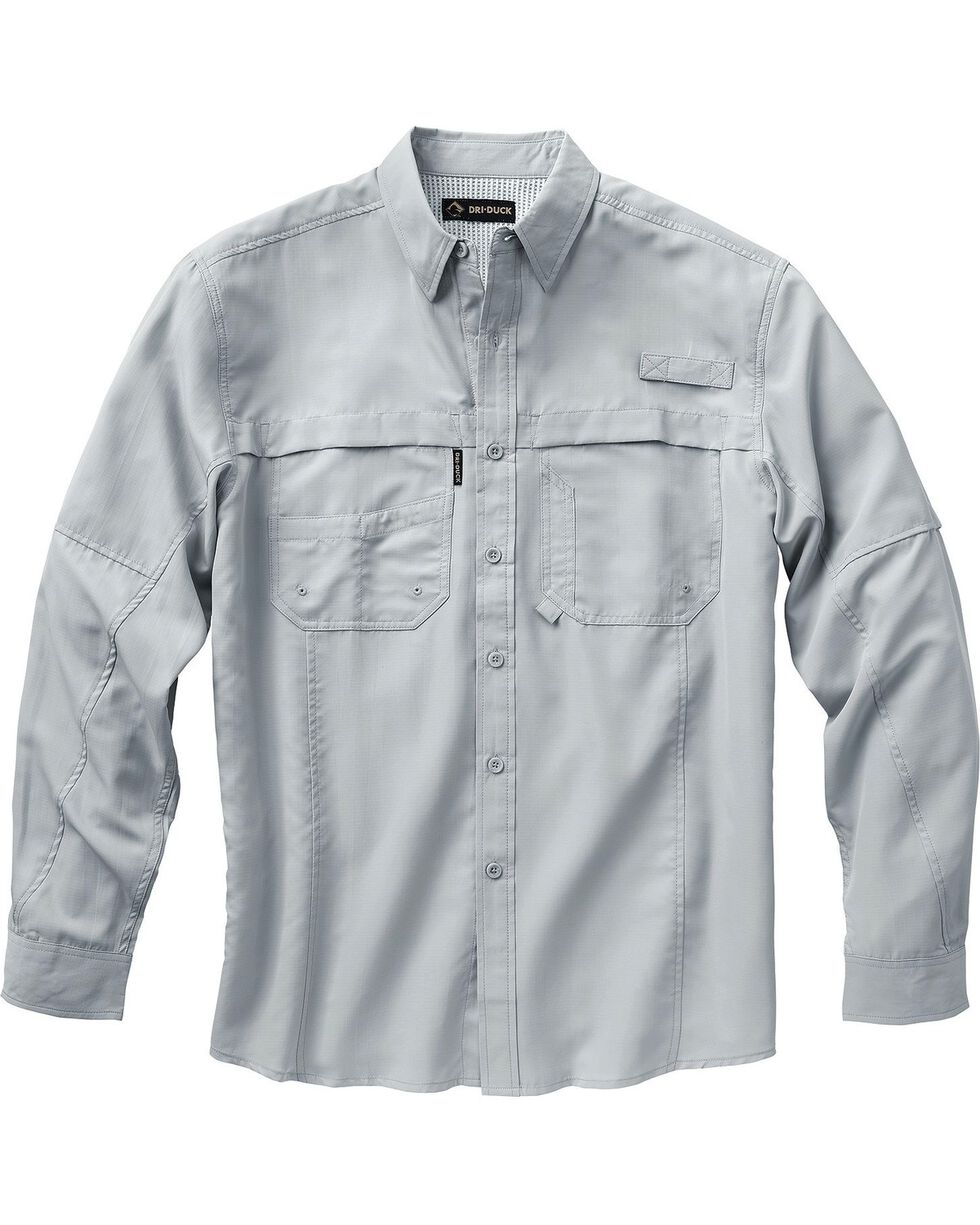 Dri Duck Men's Catch Long Sleeve Shirt - 3X & 4X, Grey, hi-res