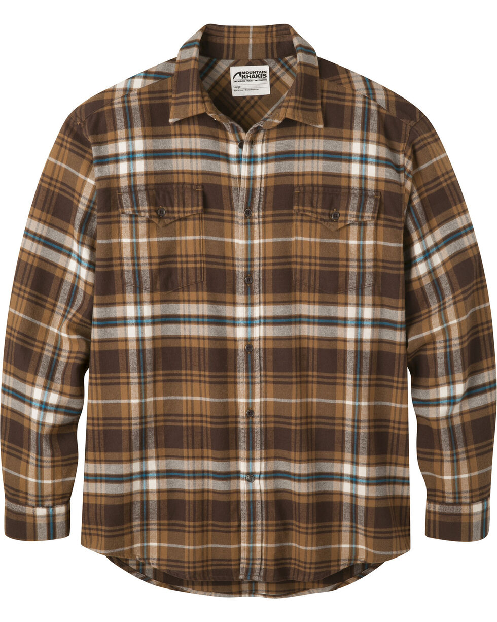 Mountain Khakis Men's Teton Flannel Shirt, Dark Brown, hi-res