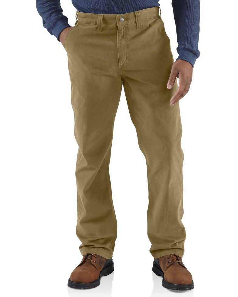 Carhartt Men's Rugged Work Khaki Pants, Dark Khaki, hi-res
