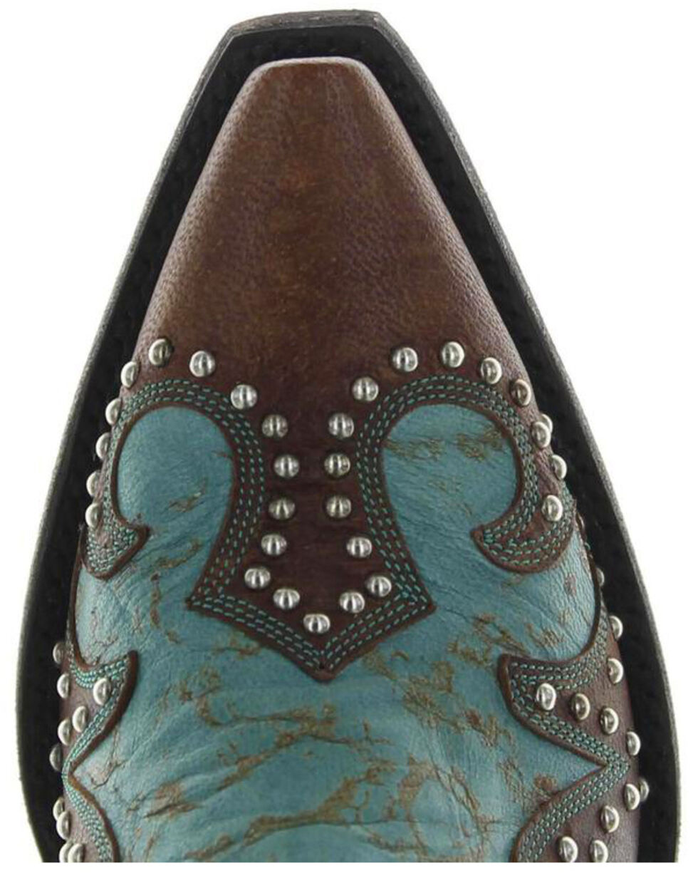 Old Gringo Double D Ranch Ammunition Turquoise Cowgirl Boots - Snip Toe, , hi-res