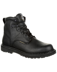 Georgia Boot Men's Giant Waterproof Work Boots - Round Toe, Black, hi-res