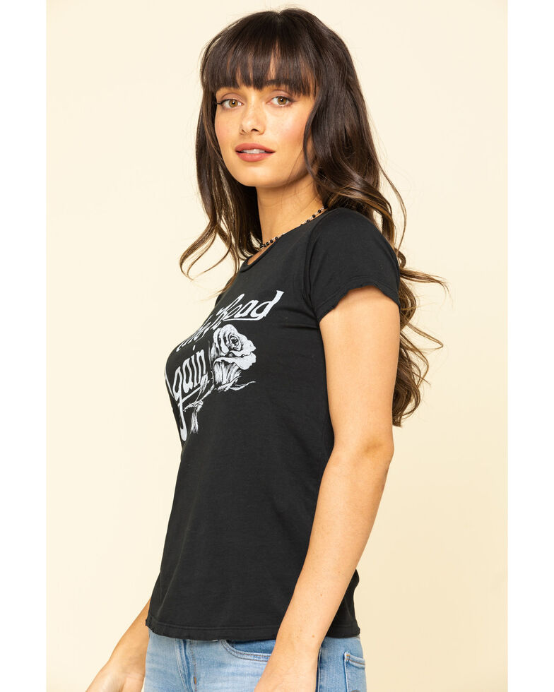 Bandit Brand Women's Black On The Road Again Graphic Short Sleeve Tee, Black, hi-res