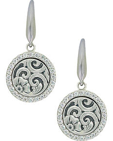 Sterling Lane Women's Daisy Vignette Earrings , Silver, hi-res
