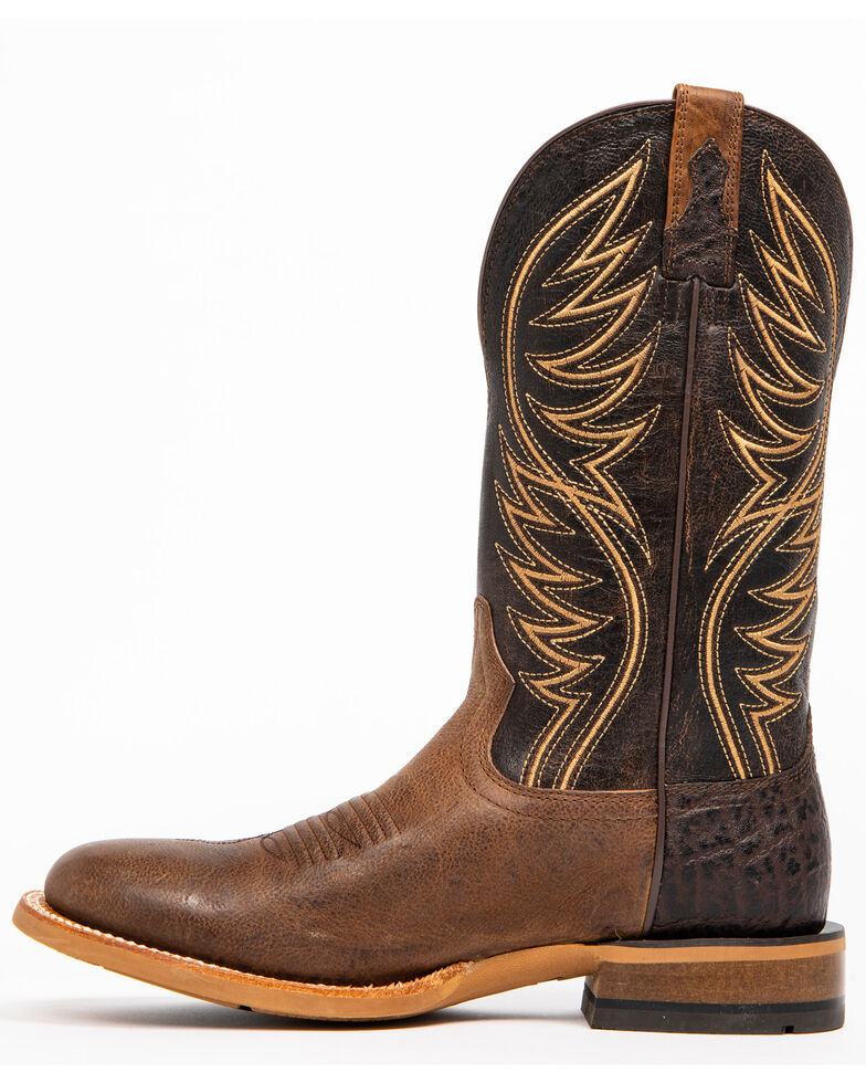 Ariat Men's Slick Fork Tobacco Toffee Performance Cowboy Boots - Round Toe, Tan, hi-res
