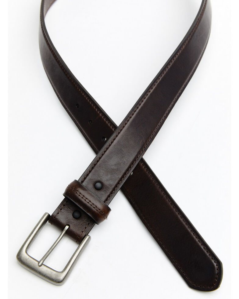 Hawx Men's Double Stitched Loop Work Belt, Brown, hi-res