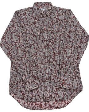 Schaefer Outfitter Men's Burgundy Frontier Paisley Western Snap Shirt - 2XL, Burgundy, hi-res