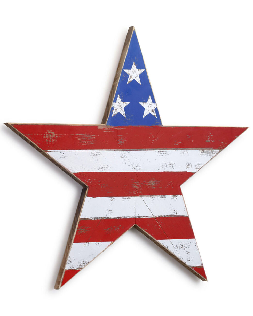 Demdaco Americana Shaped Star Wall Art , Red/white/blue, hi-res