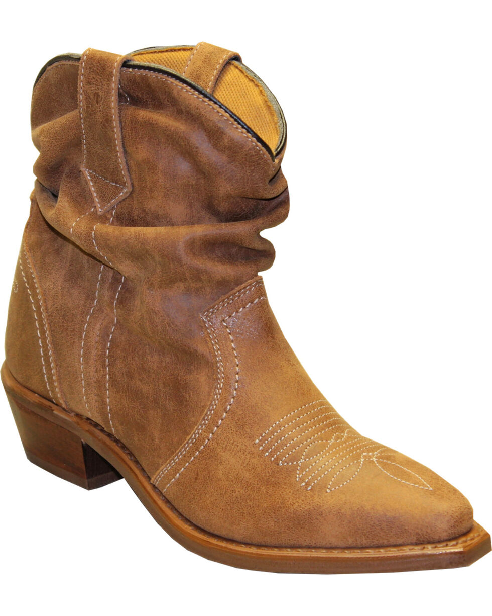 Sage by Abilene Women's Short Slouch Western Boots - Snip Toe, Tan, hi-res