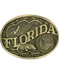 Montana Silversmiths Florida State Belt Buckle, Gold, hi-res