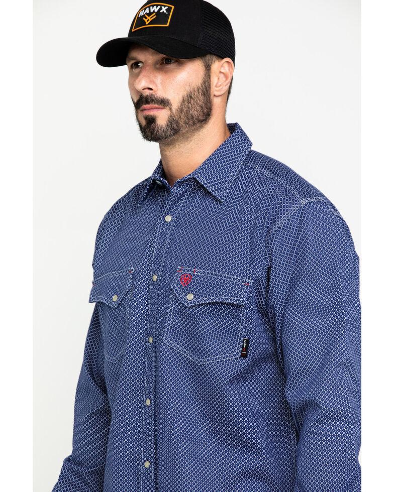 Ariat Men's FR Mantle Geo Print Long Sleeve Work Shirt , , hi-res