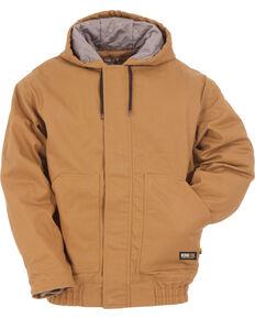 3c386acf67b0 Berne Brown Duck Flame Resistant Hooded Jacket