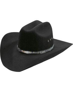 Silverado Silver-tone Inset Hat Band Wool Felt Cowboy Hat, Black, hi-res