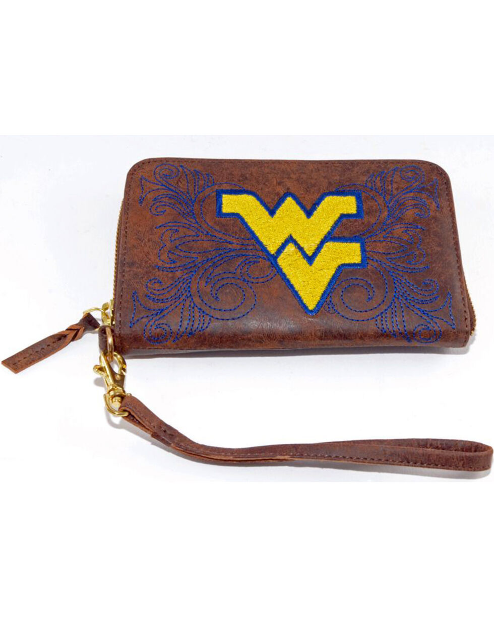 Gameday Boots West Virginia University Leather Wristlet, Brass, hi-res