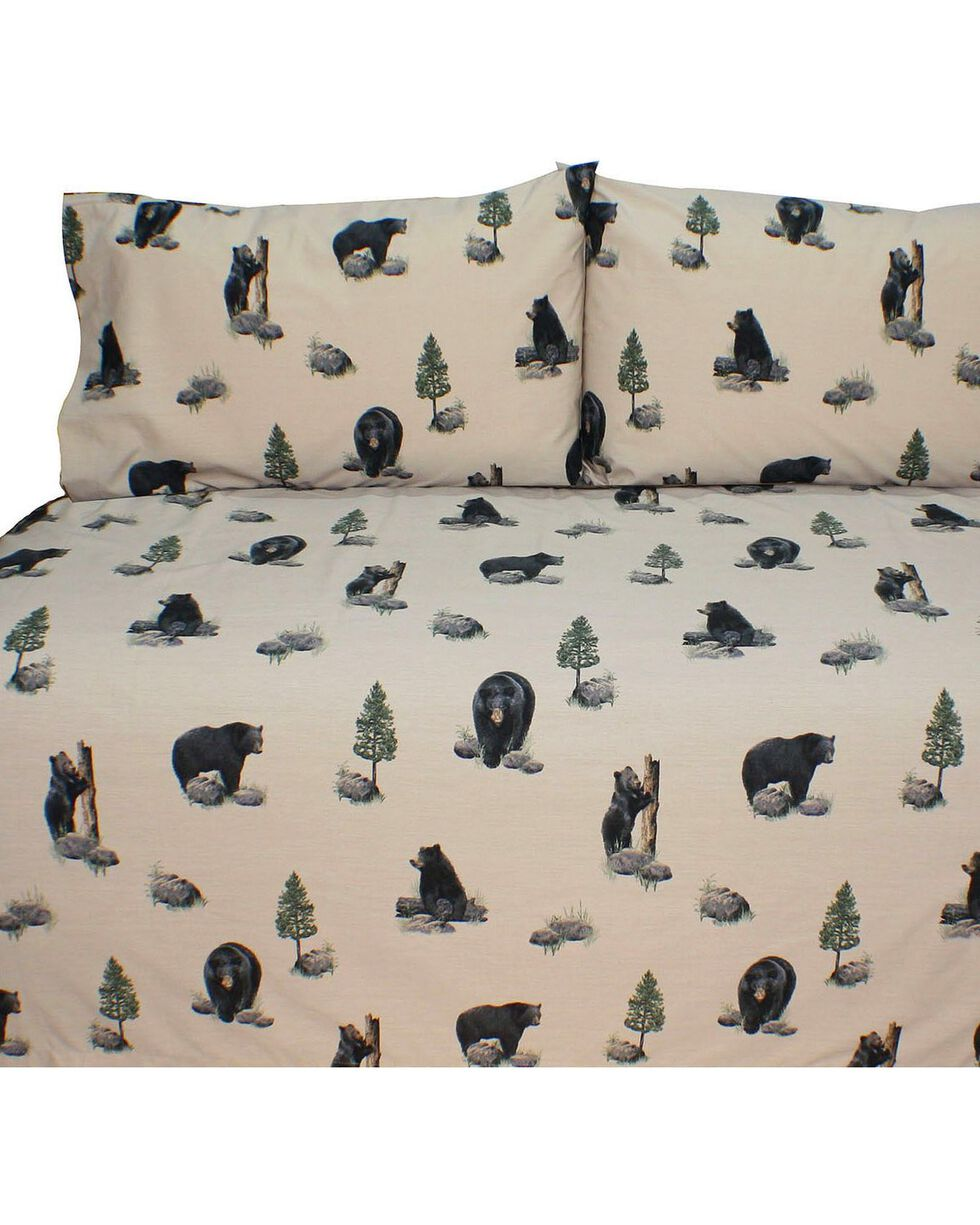 Blue Ridge Trading Bears Twin Sheet Set, Black, hi-res