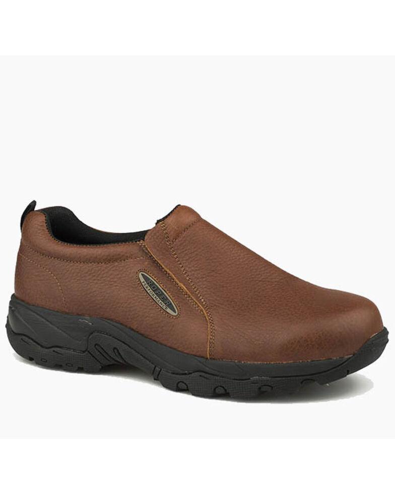 Roper Men's Air Light Brown Slip-On Shoes - Round Toe, Brown, hi-res