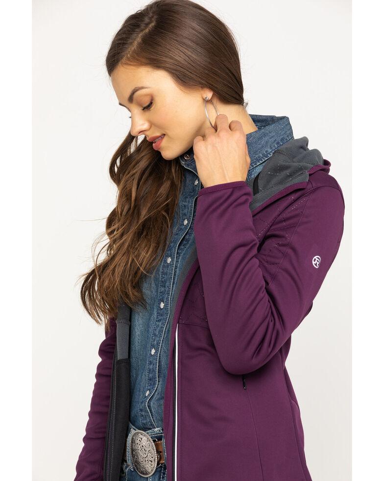 Roper Women's Purple Bonded Fleece Hooded Jacket , Purple, hi-res