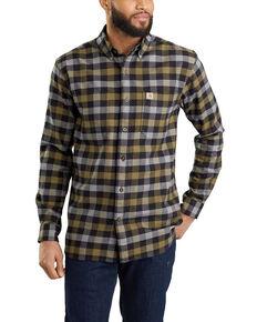 Carhartt Men's Rugged Flex® Hamilton Plaid Long Sleeve Work Shirt - Big , Black, hi-res
