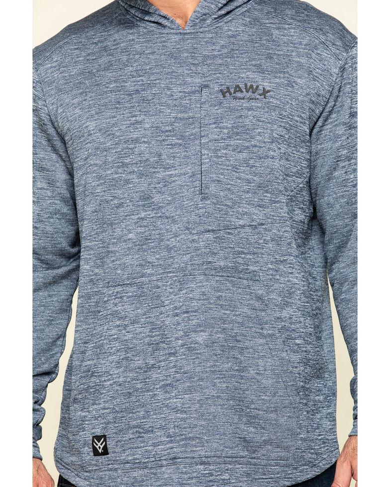 Hawx Men's Navy Petrol French Terry Hooded Work Sweatshirt , Navy, hi-res