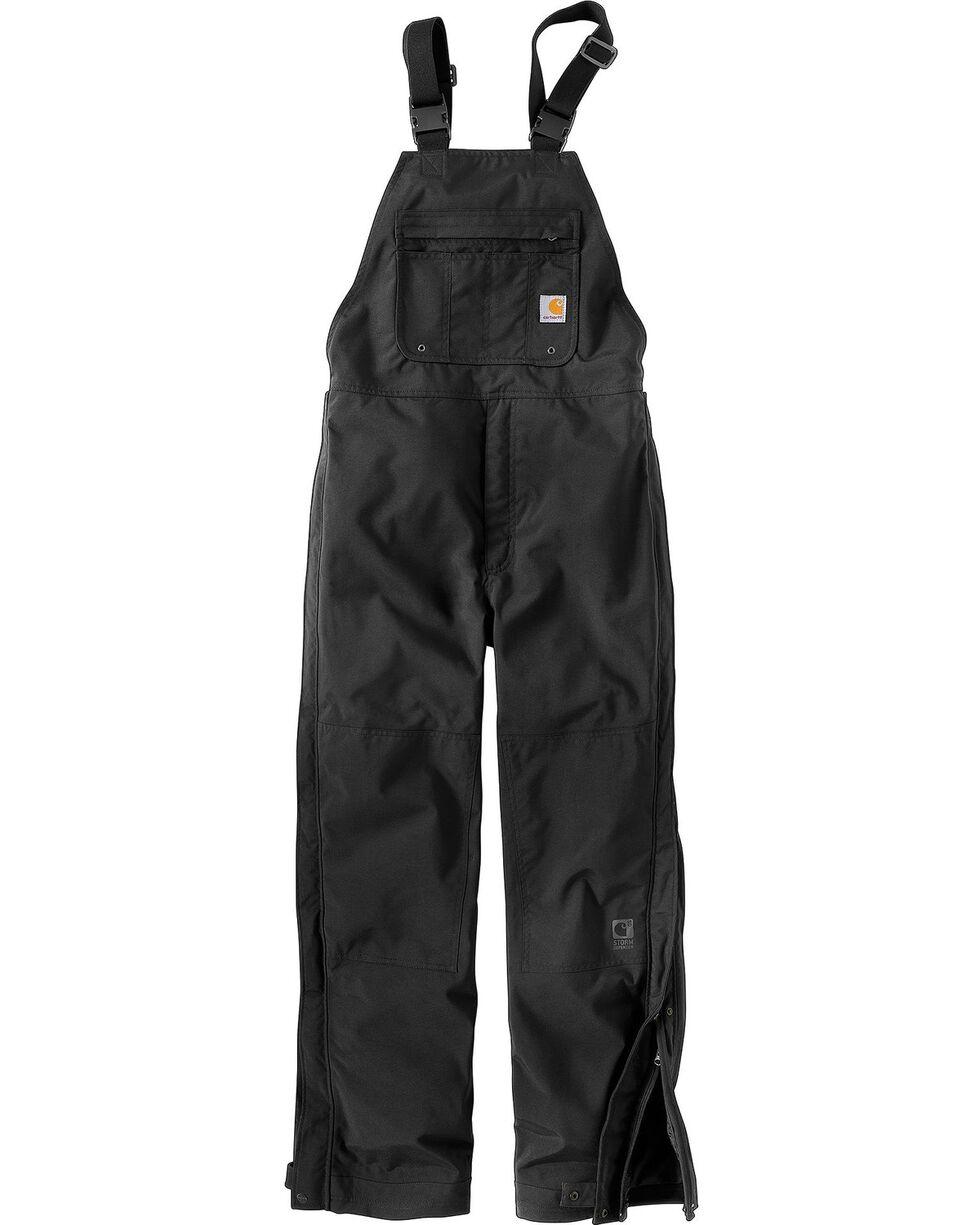 Carhartt Shoreline Bib Overalls, Black, hi-res