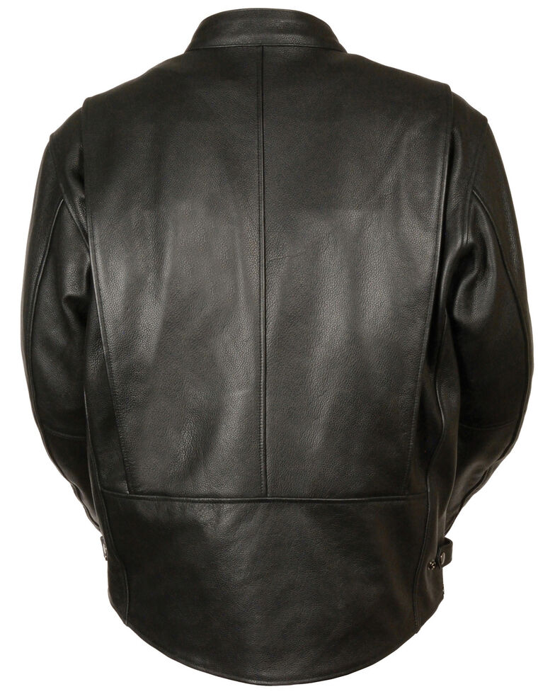 Milwaukee Leather Men's Classic Scooter Jacket , Black, hi-res