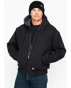 Berne Men's Flex 180 Washed Hooded Work Jacket - Big , Black, hi-res