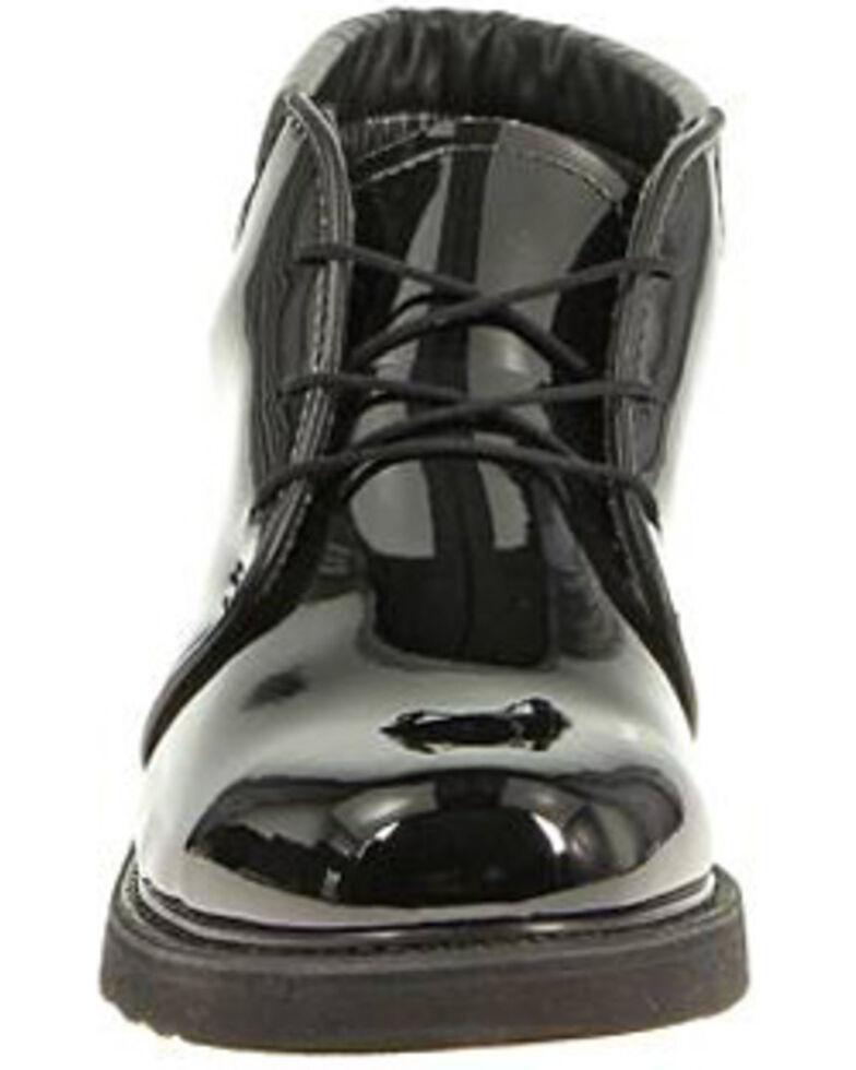Bates Men's High Gloss Chukka Shoes - Round Toe, Black, hi-res