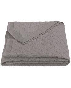 HiEnd Accents Diamond Pattern Grey Linen King Quilt, Grey, hi-res