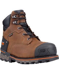 """Timberland PRO Men's Boondock 6"""" Waterproof Work Boots - Soft Toe, Brown, hi-res"""