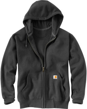 Carhartt Rain Defender Paxton Zip Front Hoodie - Big & Tall, Dark Grey, hi-res