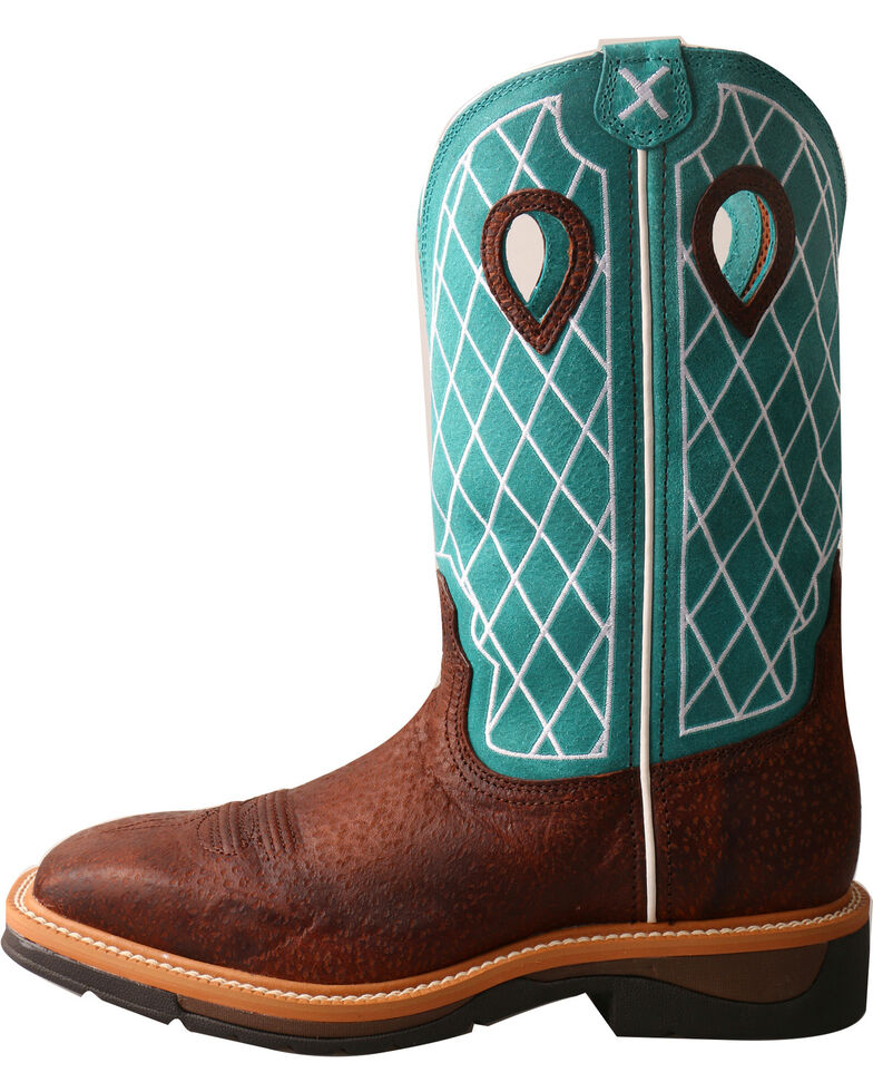 Twisted X Men's Pattern Steel Toe Western Work Boots, Brown, hi-res