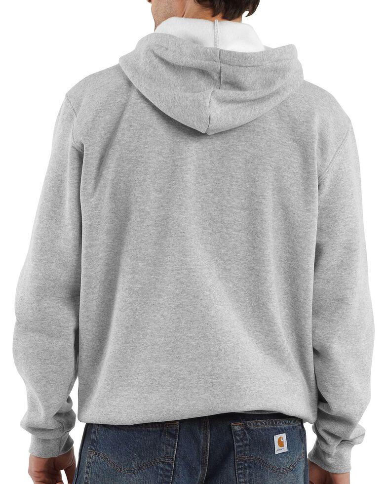 Carhartt Men's Midweight Hooded Pullover Sweatshirt, Hthr Grey, hi-res