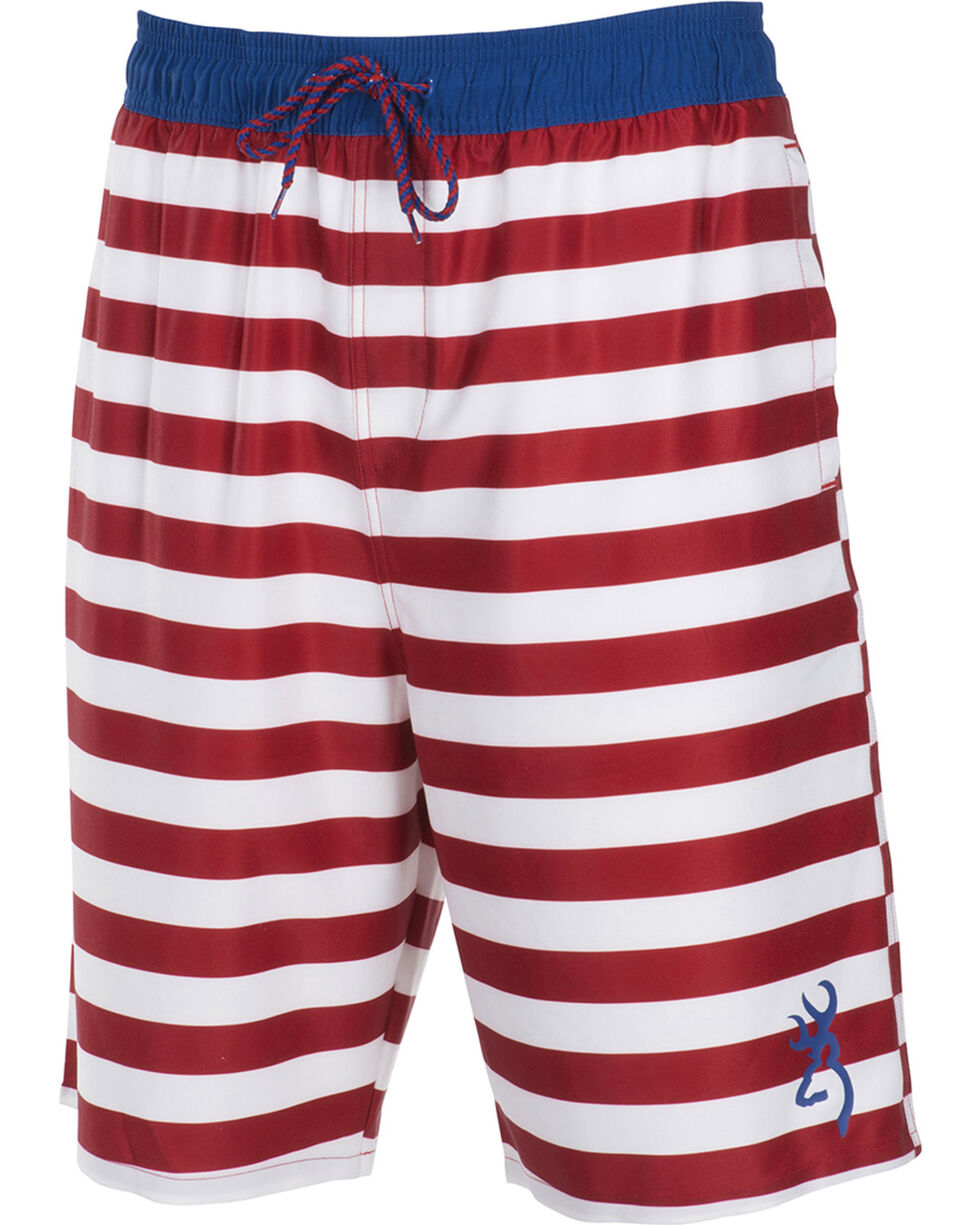 Browning Boys' Patriotic Antero Swim Trunks , Red/white/blue, hi-res