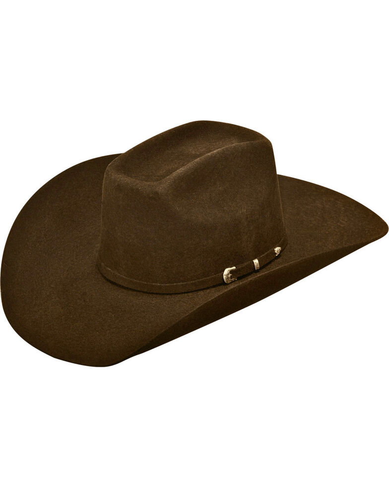 Ariat Men's Added Money 2X Wool Felt Cowboy Hat , Chocolate, hi-res