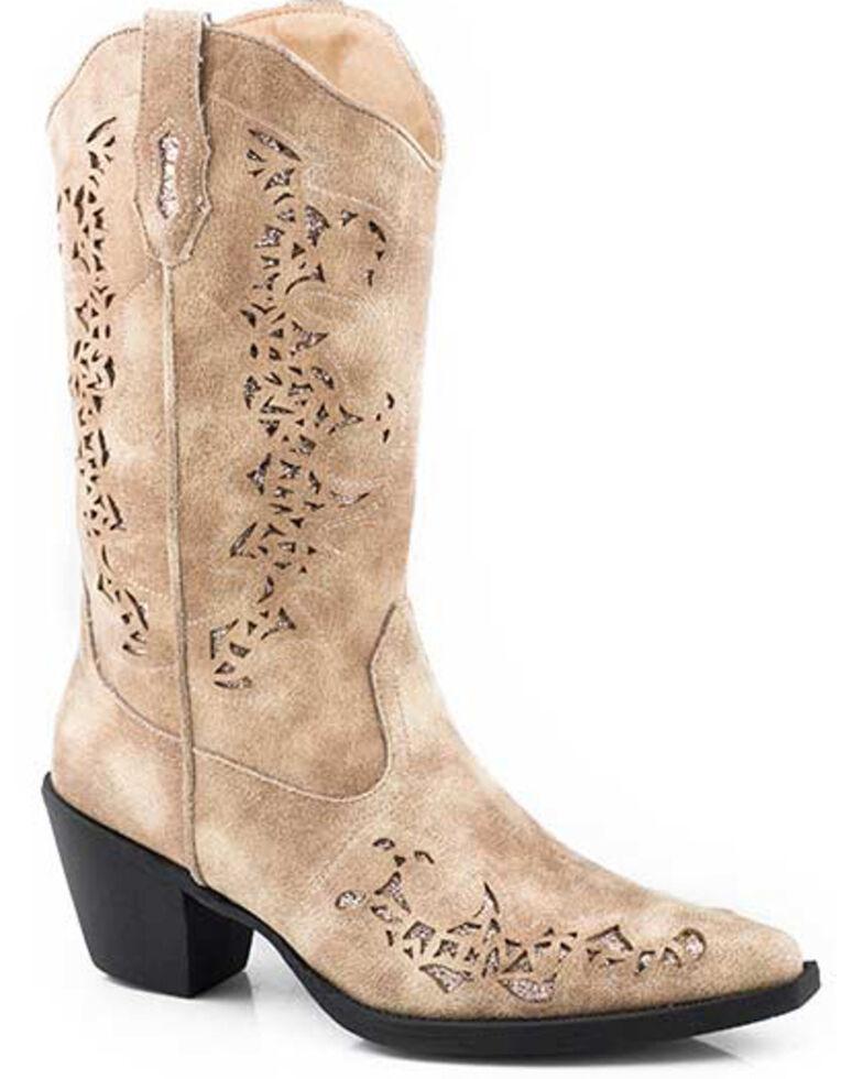 Roper Women's Alisa Western Boots - Snip Toe, Tan, hi-res