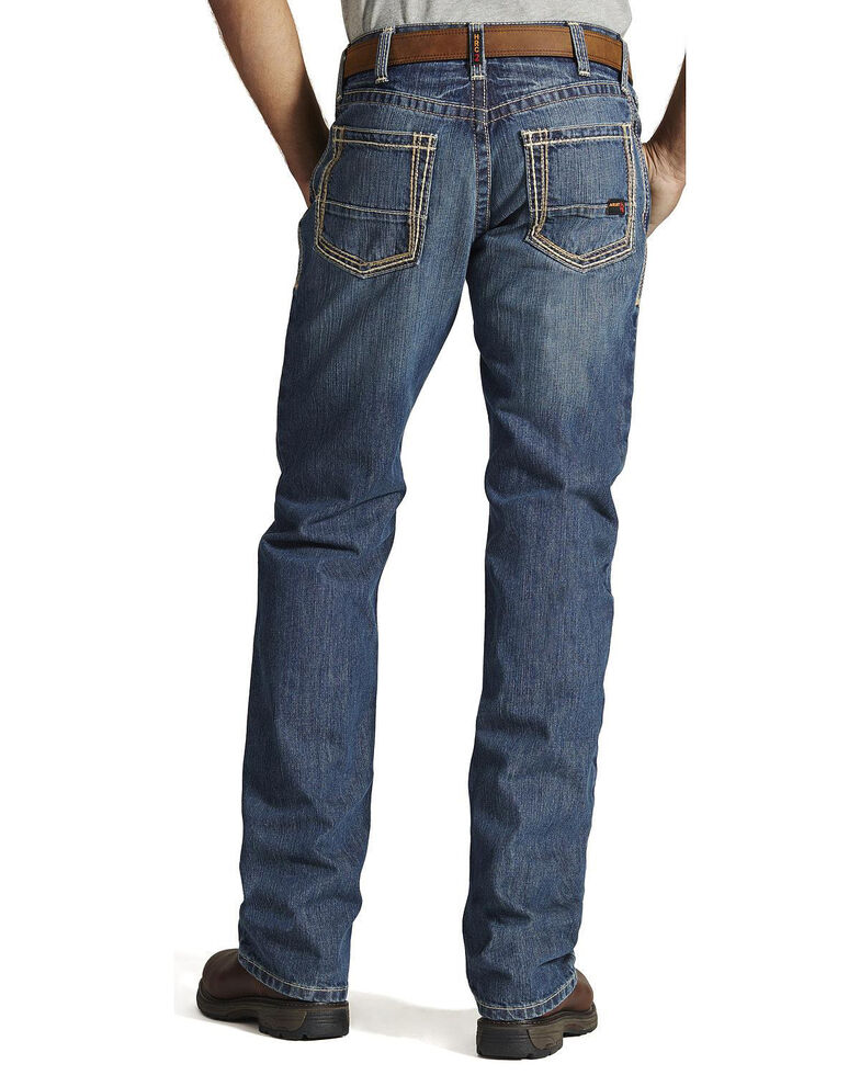 Ariat Men's FR M4 Clay Low-Rise Bootcut Work Jeans - Tall , Bronze, hi-res