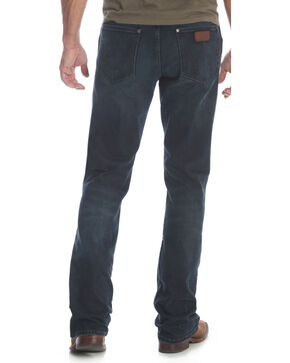 Wrangler Men's Blue Retro Relaxed Fit Stretch Boot Cut Jeans - Long , Blue, hi-res
