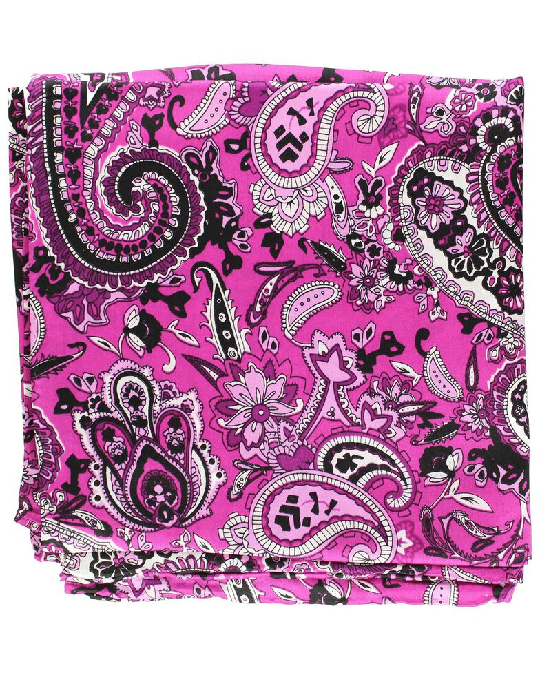 Paisley Silk Wild Rag, Purple, hi-res
