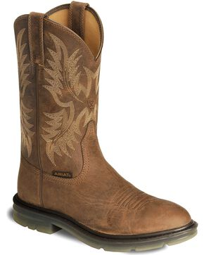 Ariat Men's Maverick II Western Work Boots, Brown, hi-res