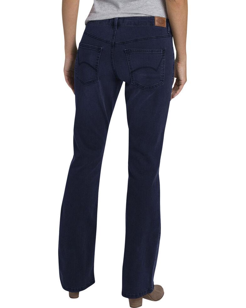 Women's Dickies Perfect Shape Stretch Denim Bootcut Jeans, Indigo, hi-res